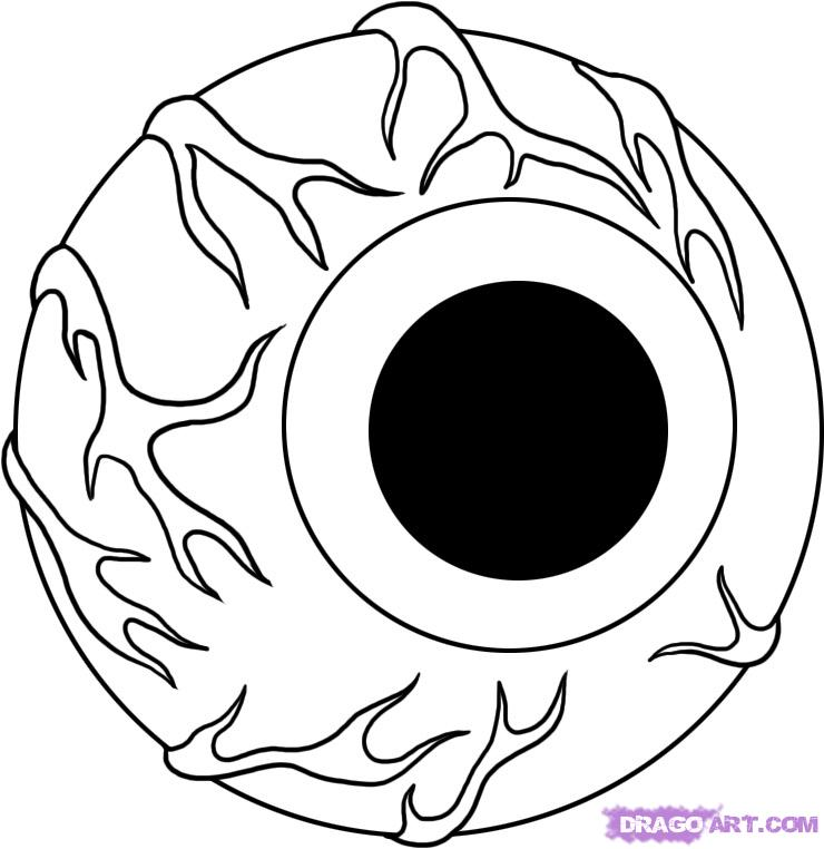 740x762 Photos Scary Eyeball Drawings