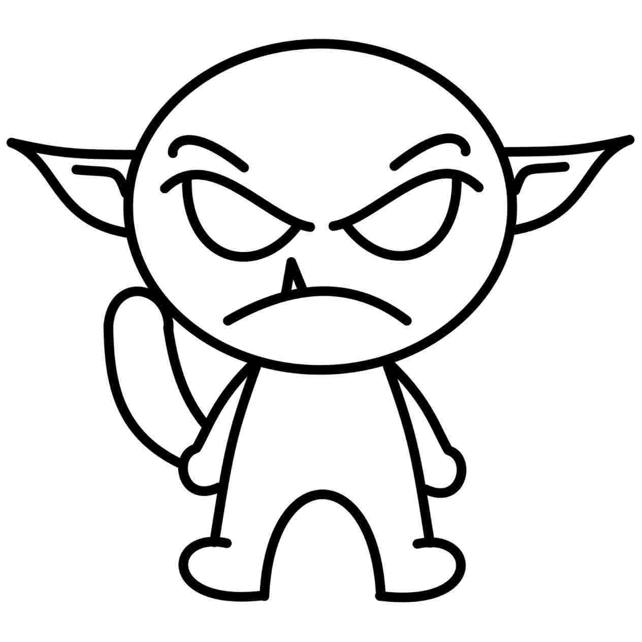 1264x1264 Scary Cartoon Drawings Pictures Download Clip Art
