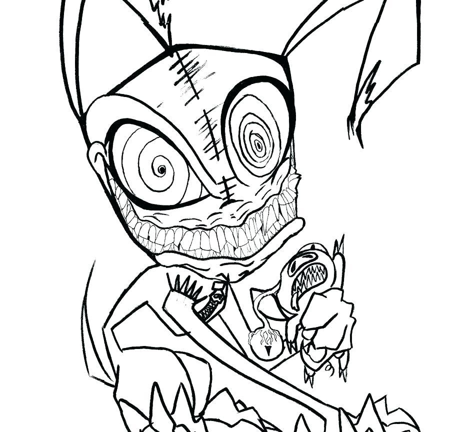 900x864 Coloring Pages Online For Free Disney Games Halloween Scary