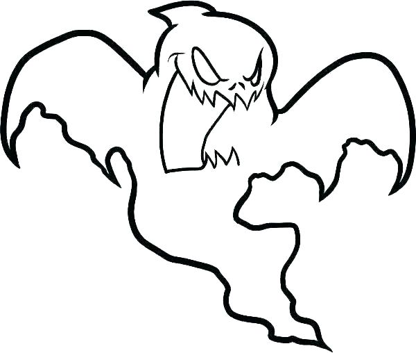 600x508 Coloring Pages Scary Ghost Coloring Pages How To Draw A For Kids