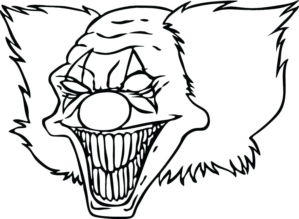 1024x751 Ghost Coloring Pages Scary Ghost Coloring Pages Clown Many