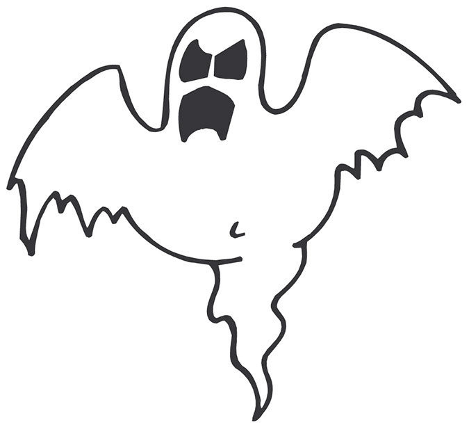 675x614 Halloween Scary Ghost Clipart