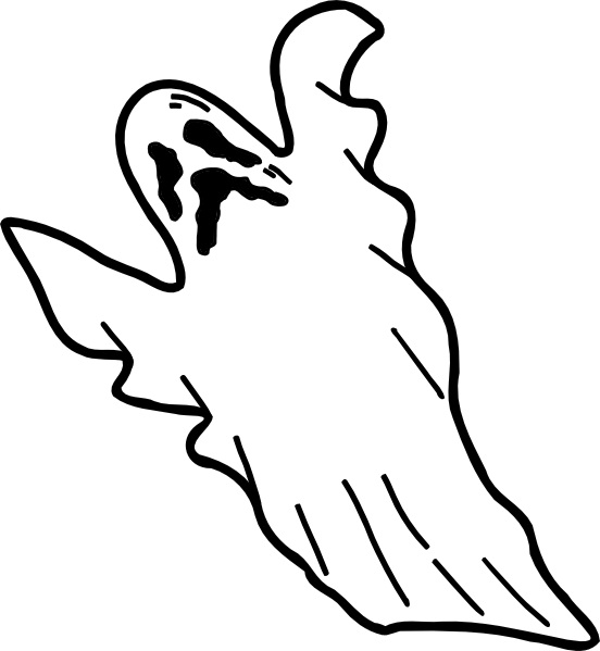 552x599 Scary Ghost Coloring Pages