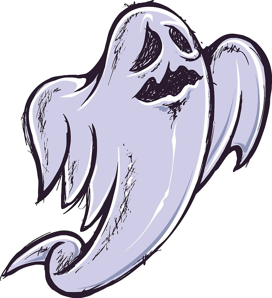913x1000 Scary Ghost Design