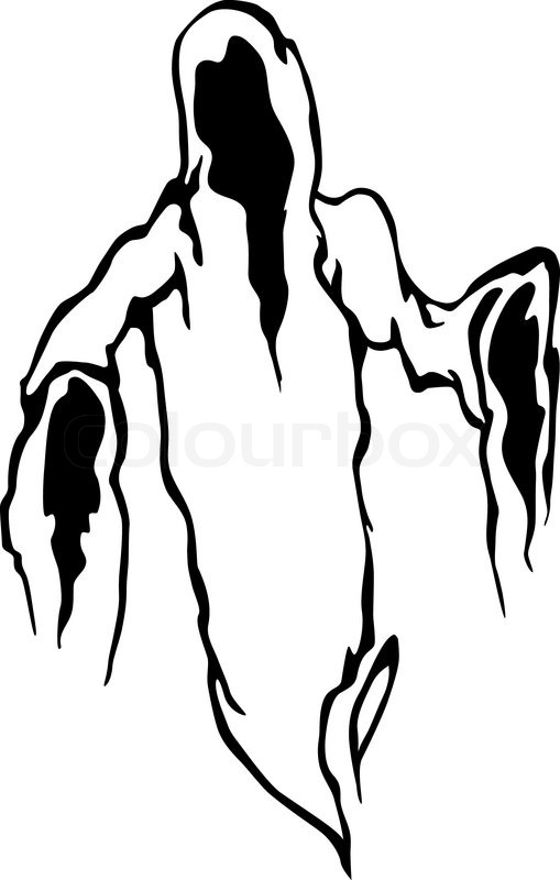 509x800 Ghost Lineart Scary For Free Download