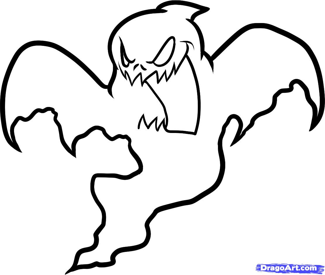 1111x941 Ghost Drawing Spooky For Free Download