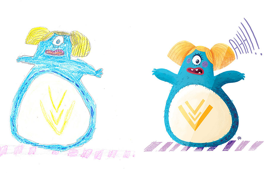 Scary Monster Drawings