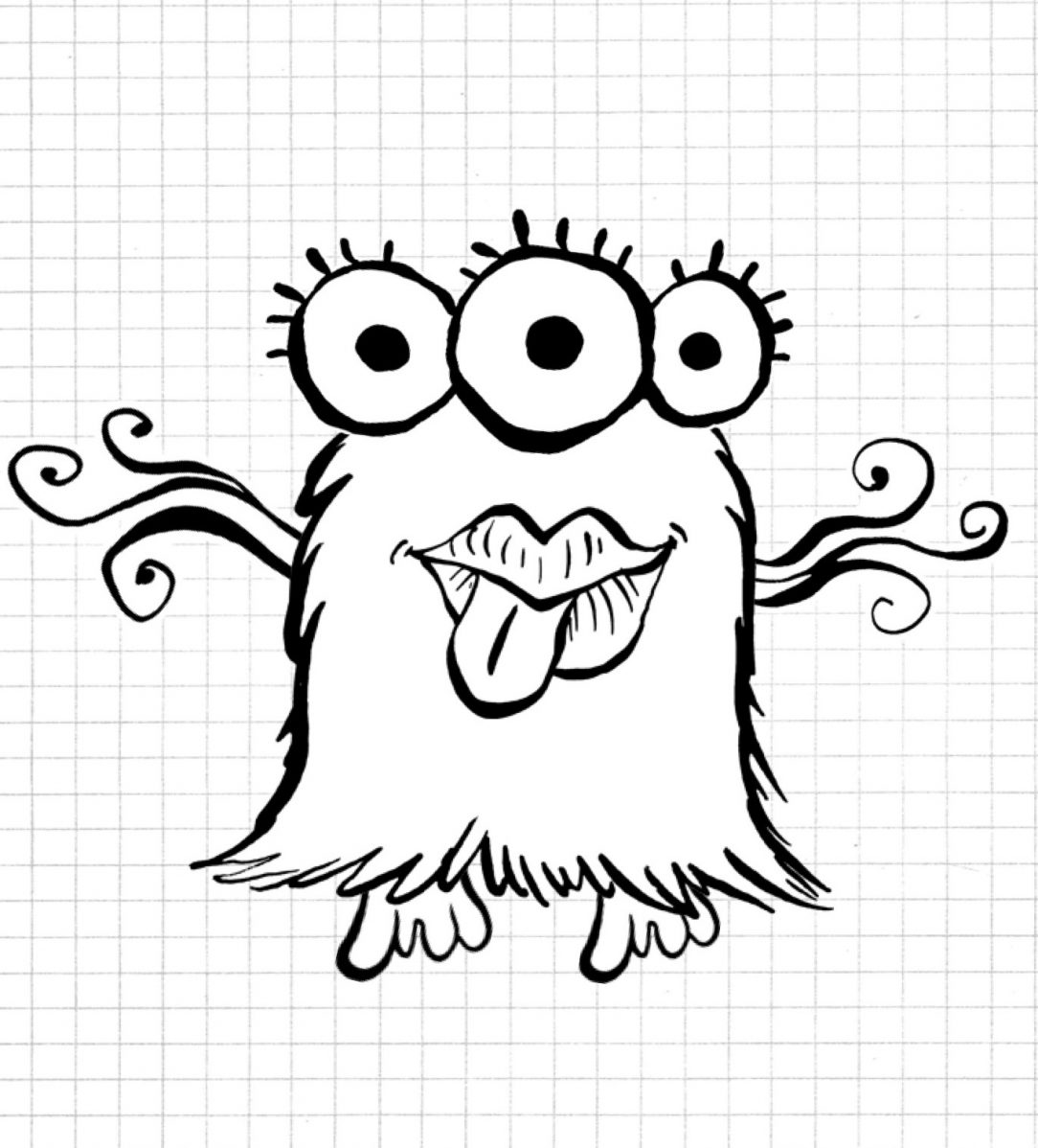 It is a picture of Ridiculous Scary Mouth Drawing
