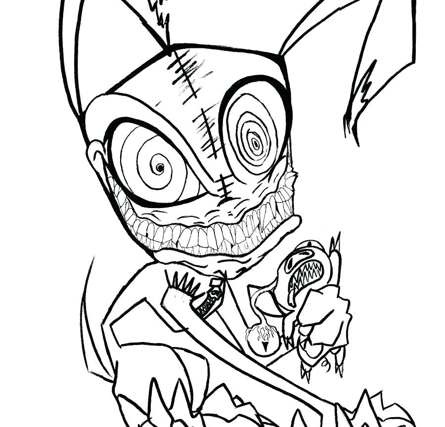 900x864 Creepy Coloring Pages Halloween Sheets