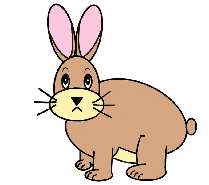 680x600 How To Draw A Cartoon Bunny In A Few Easy Steps Easy Drawing Guides