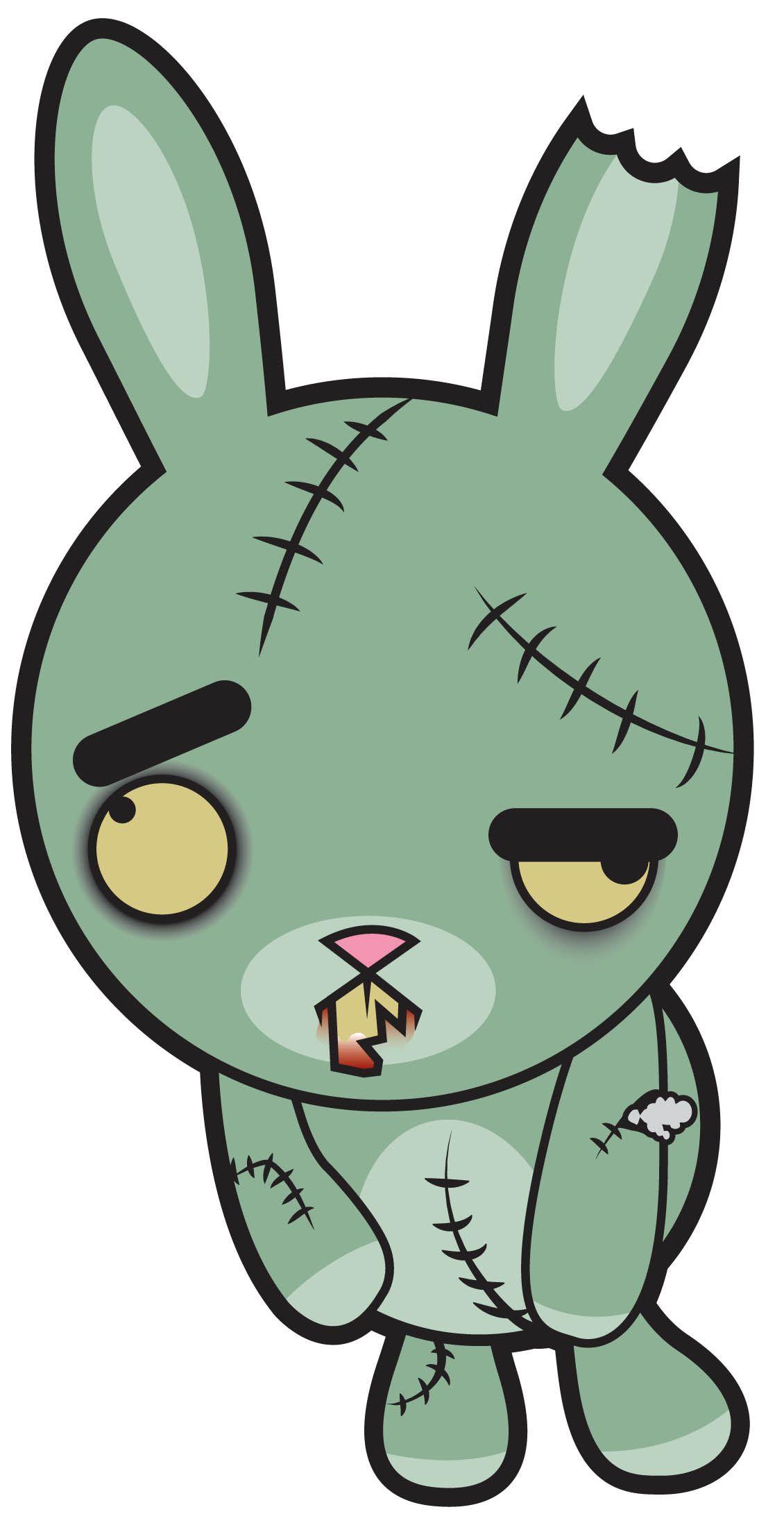 1130x2181 Zombie Bunny My Scary Cartoons Zombie Bunny, Frankenstein, Dracula