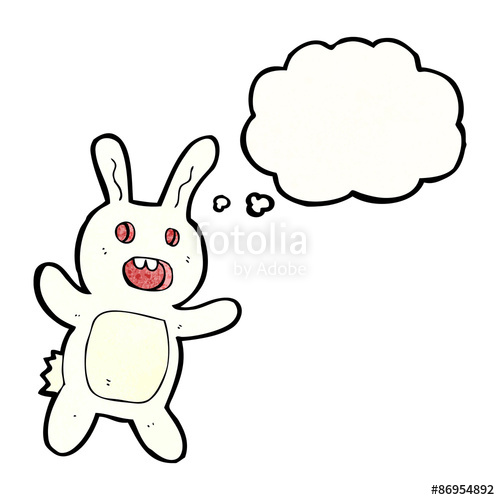500x500 Scary Rabbit Cartoon Stock Image And Royalty Free Vector