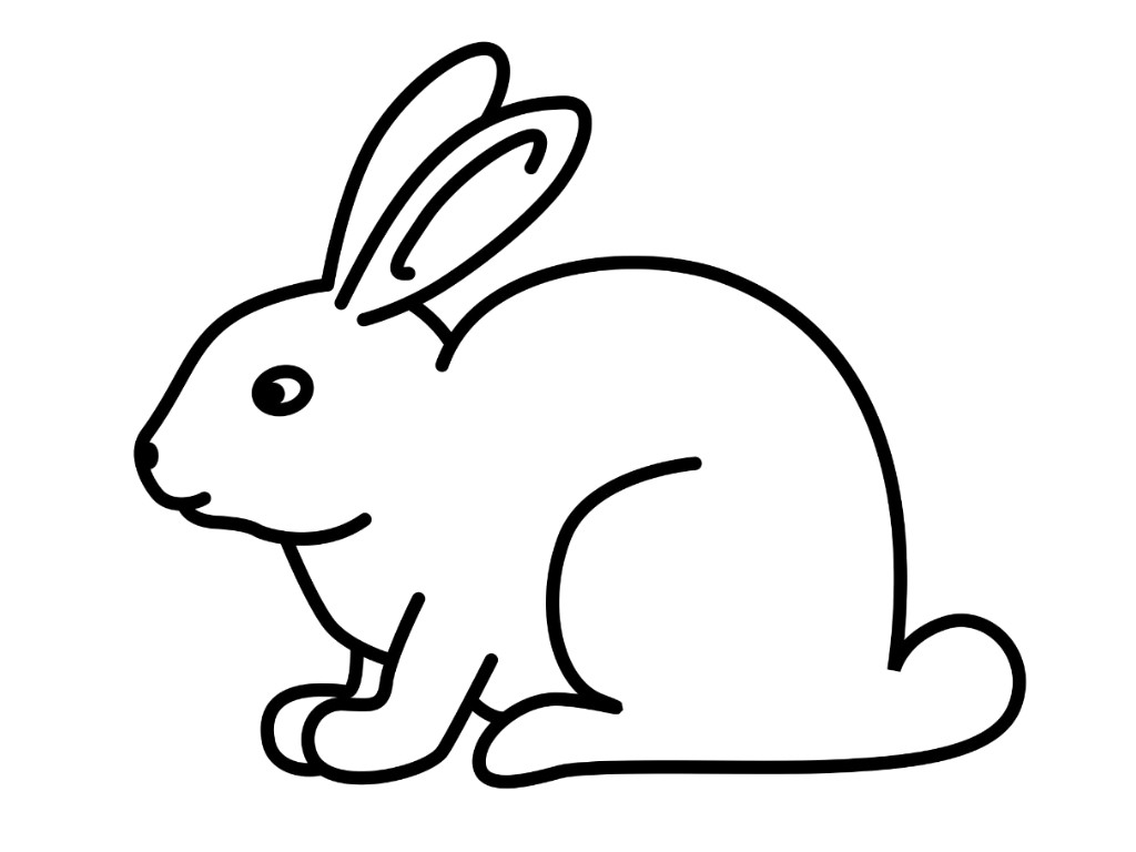 1024x768 Rabbit Drawing Profile For Free Download