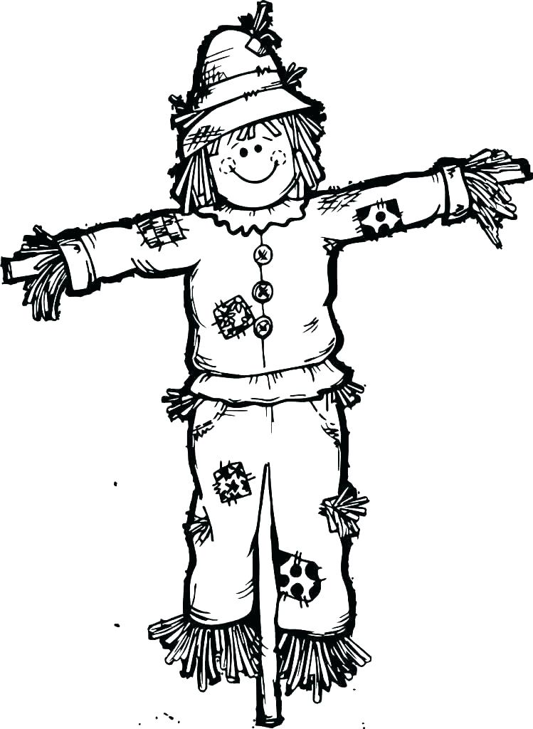 Scary Scarecrow Drawing   Free download on ClipArtMag