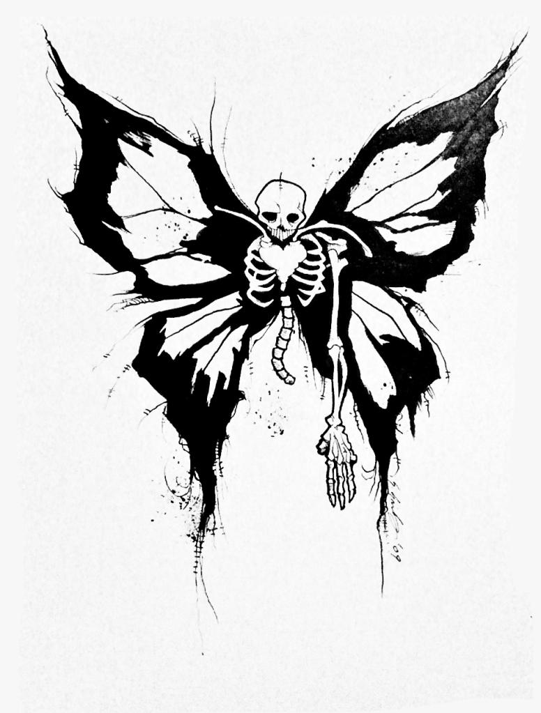 Scary Skeleton Drawing