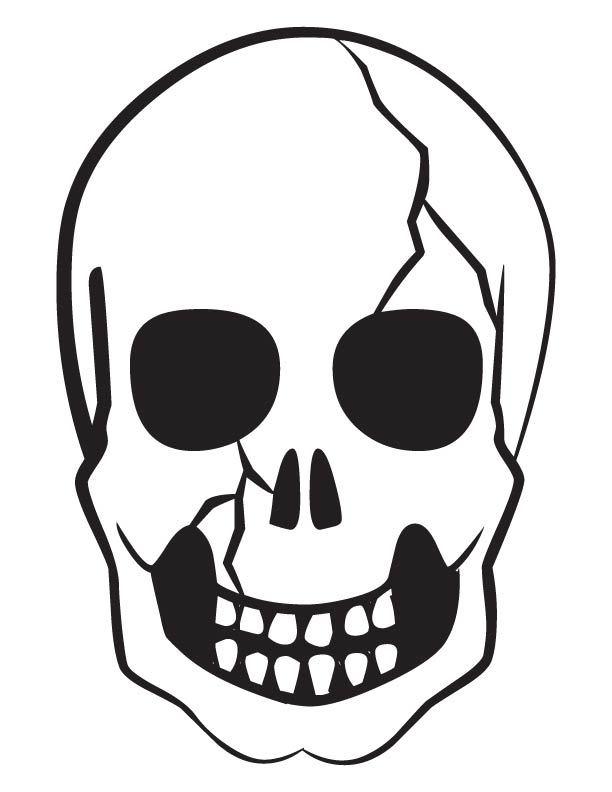 Scary Skull Drawing