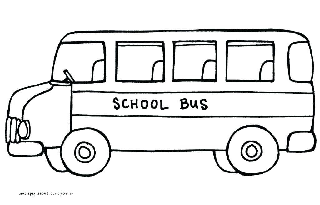 1024x655 school bus coloring pages lovely front school bus drawing school