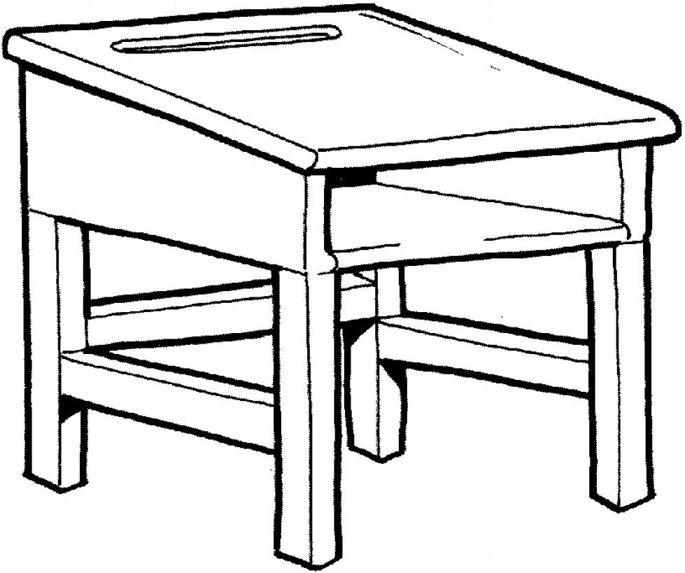 School Desk Drawing