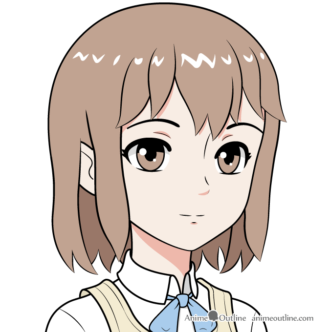 675x680 How To Draw An Anime School Girl In Steps