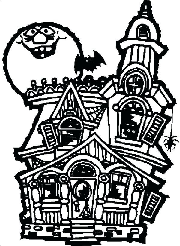 600x818 haunted house coloring free printable haunted house coloring pages