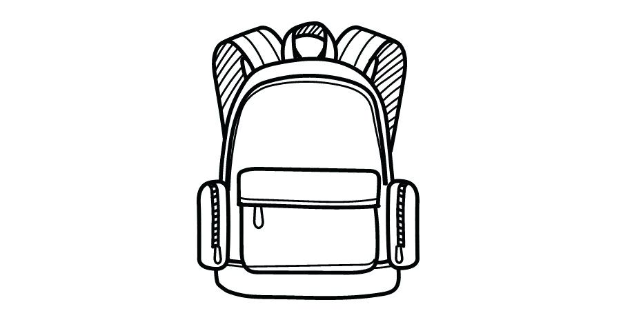 900x480 drawing of backpack spacious storage capacity backpack drawing