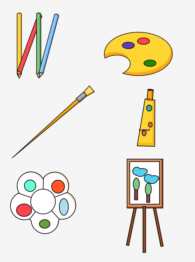 640x856 simple and cute cartoon learning art supplies stationery supplies