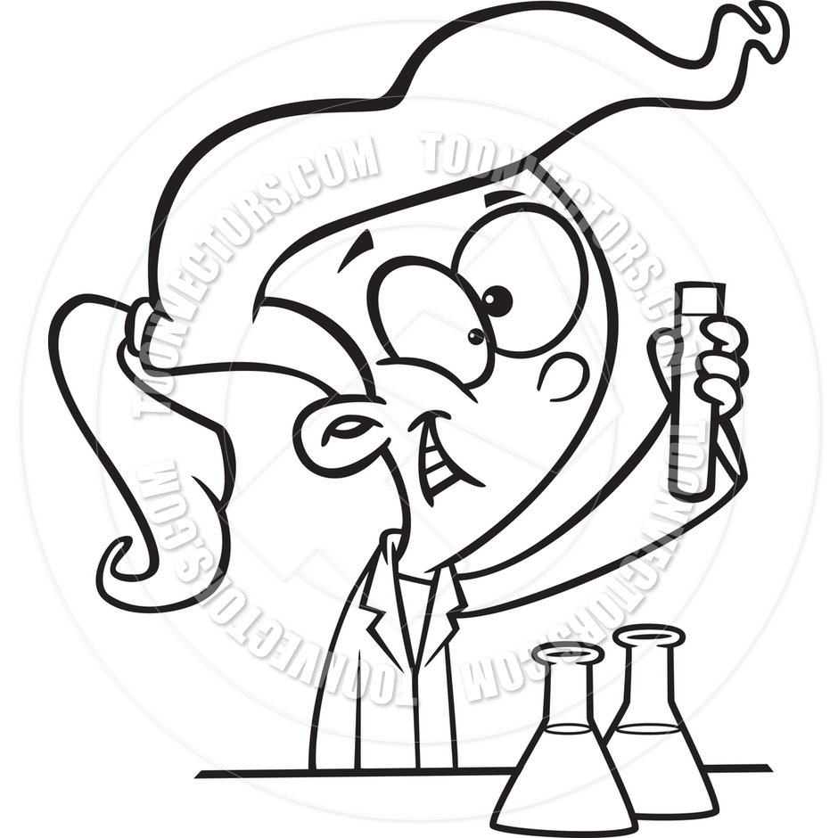Science Beaker Drawing