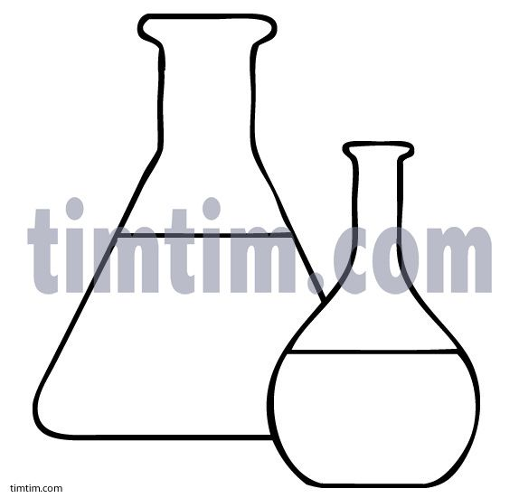 574x551 Free Drawing Of Glass Beakers Bw From The Category Science