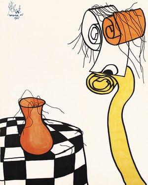 300x375 Kurt Vonnegut The Drawings Of Science Fiction's Master Artist