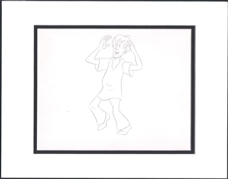 794x623 scooby doo shaggy production animation cell drawing etsy