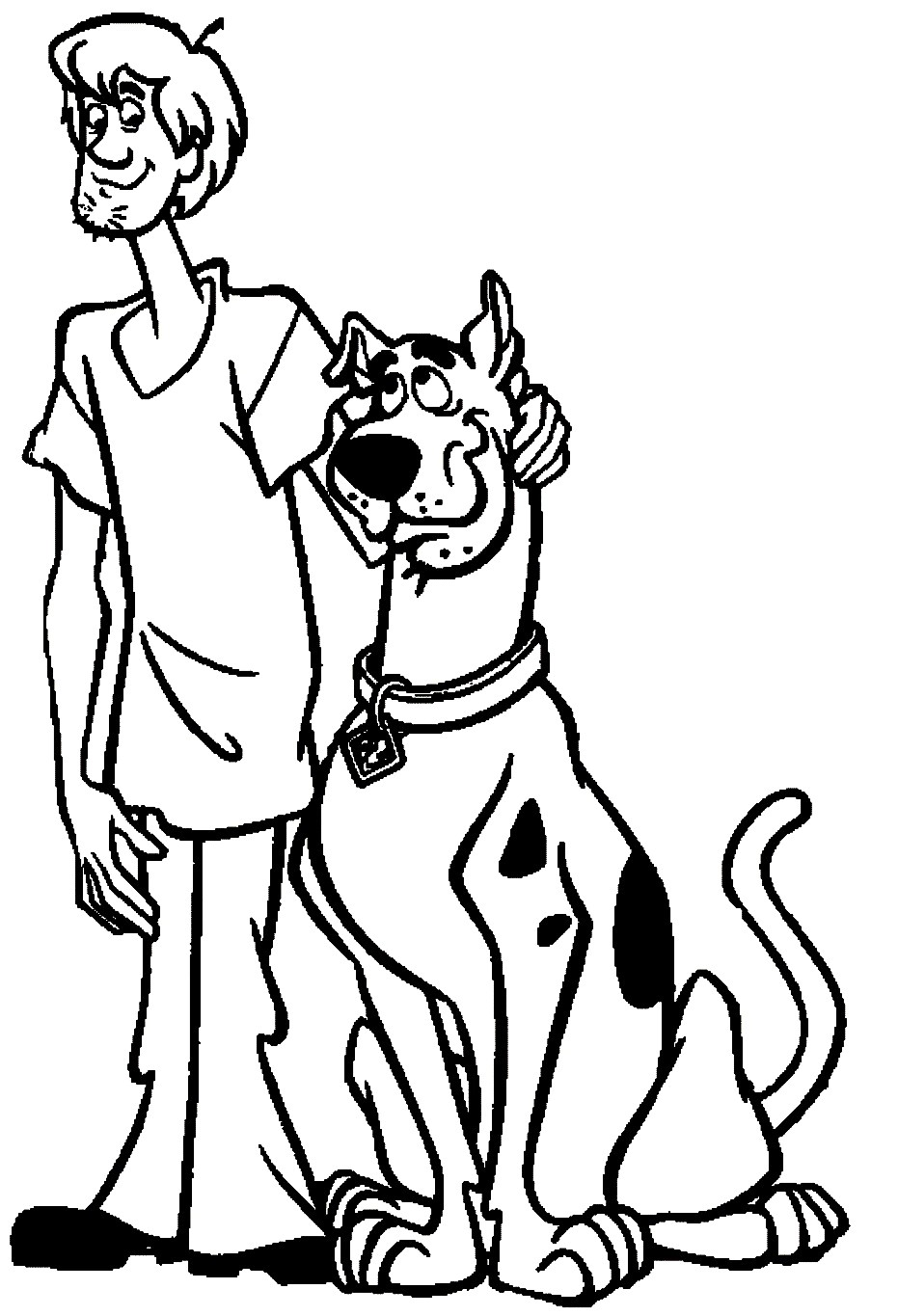 Scooby Doo Face Drawing | Free download on ClipArtMag
