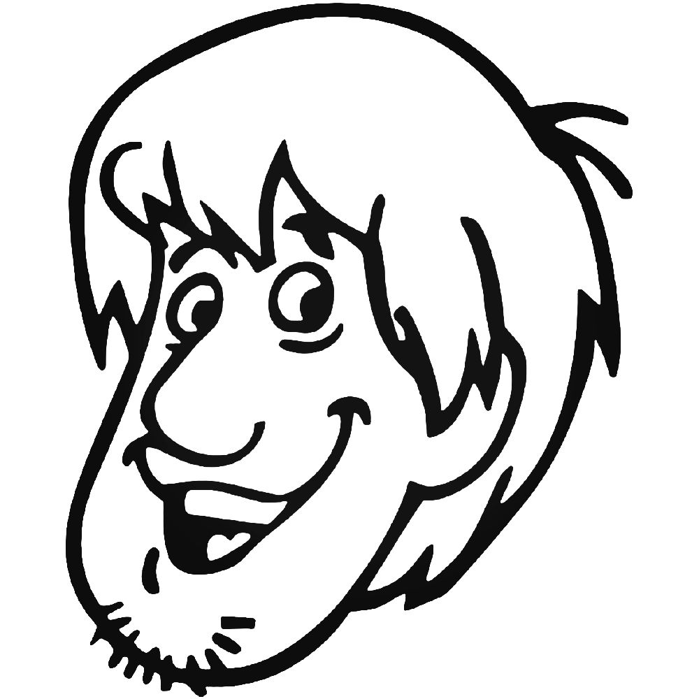 1000x1000 shaggy scooby doo vinyl decal sticker