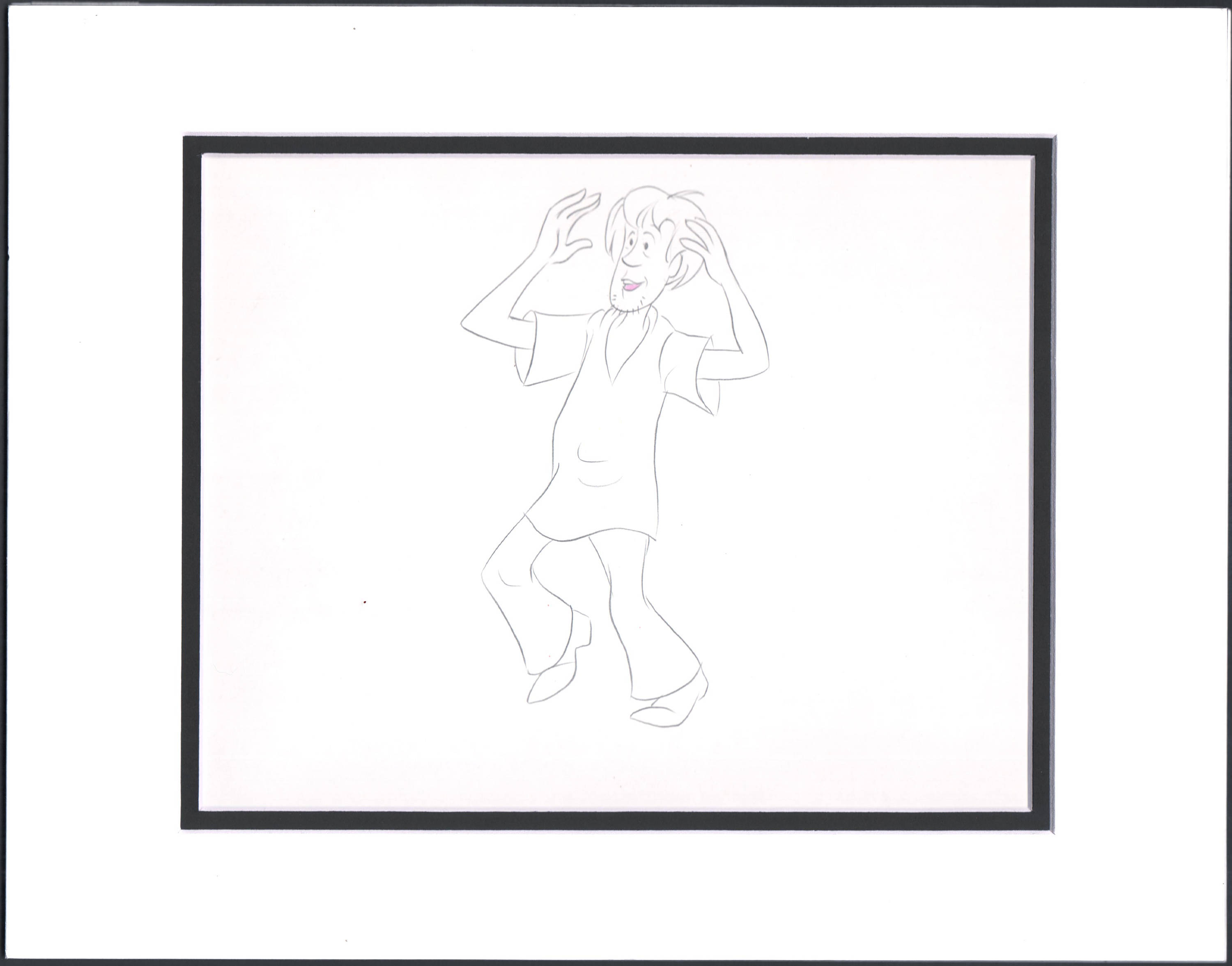 3000x2354 scooby doo shaggy production animation cell drawing etsy