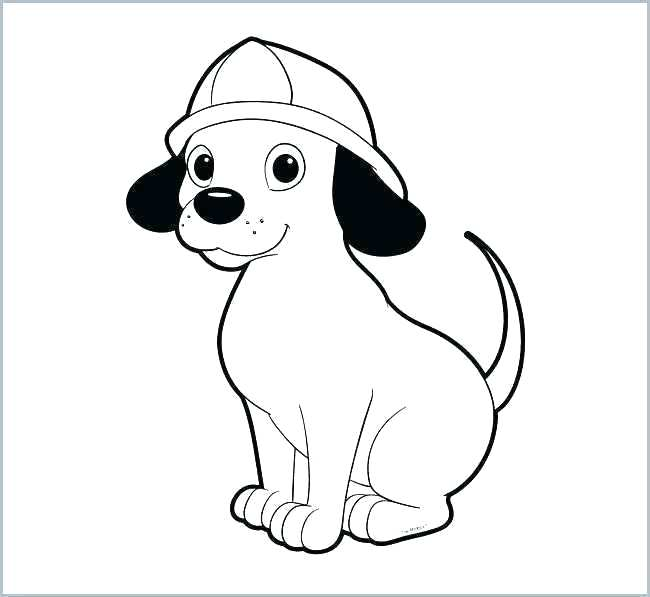 650x597 dog coloring book cute dog template dog applique design of cute
