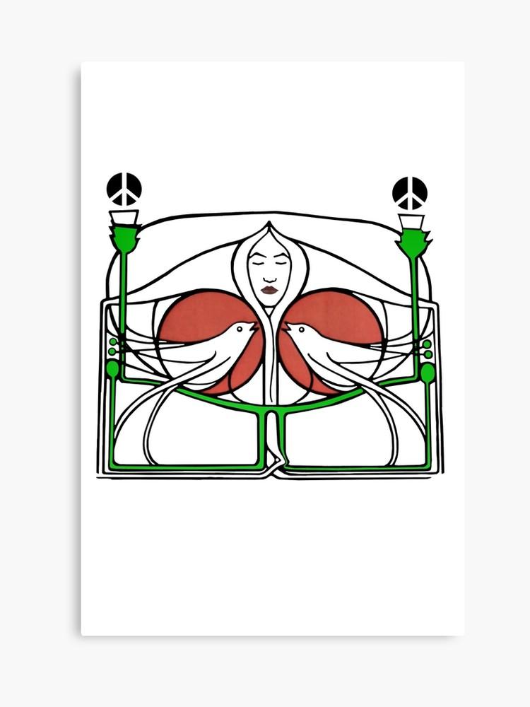 750x1000 Mackintosh Peace Thistle Songbirds Canvas Print