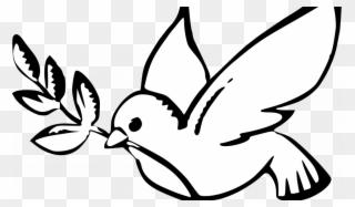 320x187 Peace Dove Black White Line Art Christmas Xmas