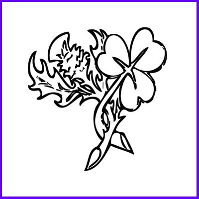 400x400 Thistle And Shamrock Cling Stamp