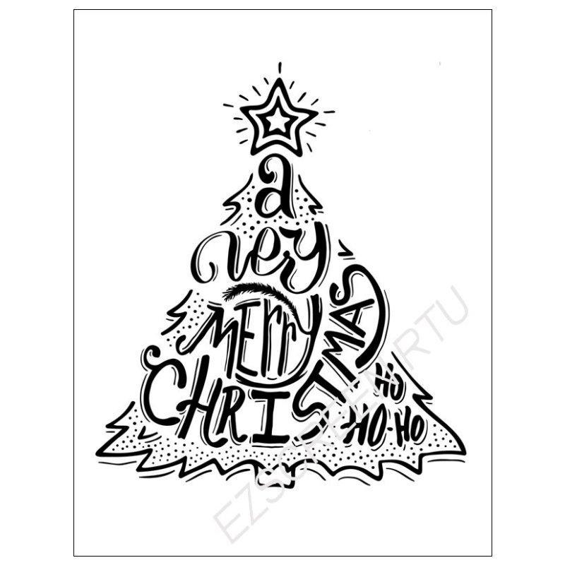 800x800 diy screen printing christmas tree star design silk screen stencil