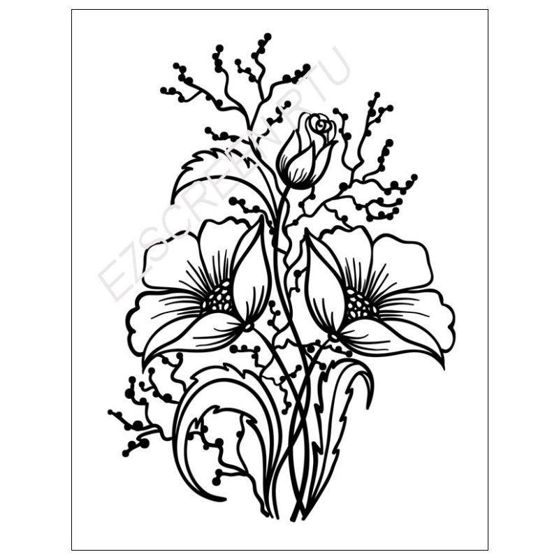 800x800 diy screen printing flower arrangement ceramic silk screen stencil