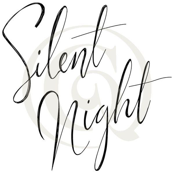 600x600 silent night light script svgdxf carols songs drawing