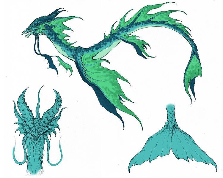 Cute Sea Monster Concept Art