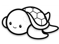 200x150 How To Draw A Baby Sea Turtle Easy Stepstep For Kids Cute Baby