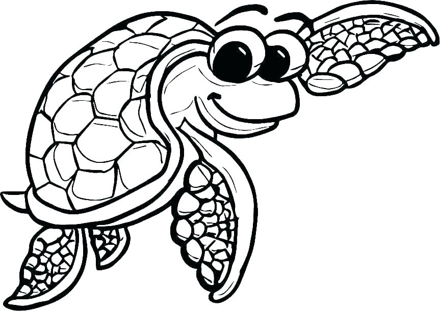 863x611 Sea Turtle Coloring Pages Green Of Turtles Printable