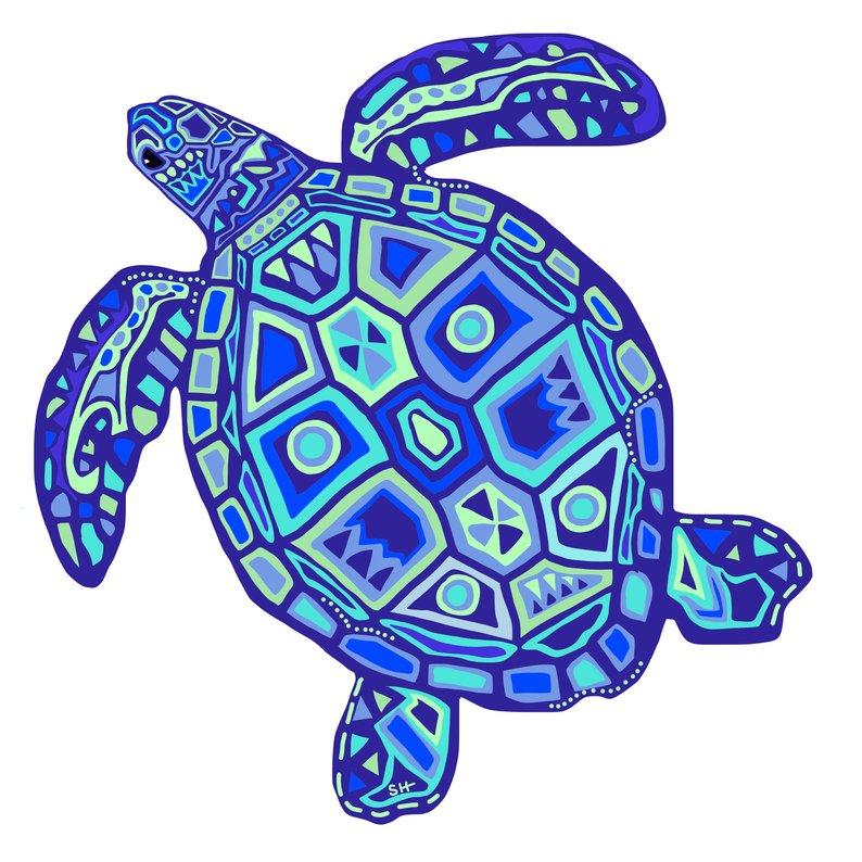 794x794 Sea Turtle Poster Nautical Wall Art Beach House Decor Ocean Etsy