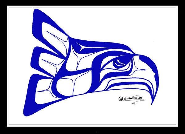 600x435 Salish Seahawks Logo Art Print