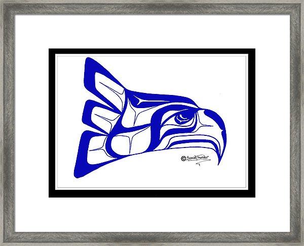 600x487 Salish Seahawks Logo Framed Print