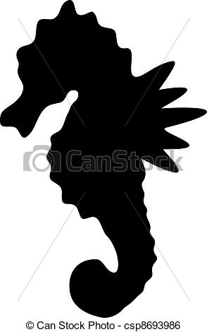 294x470 Seahorse Clipart Outline Collection