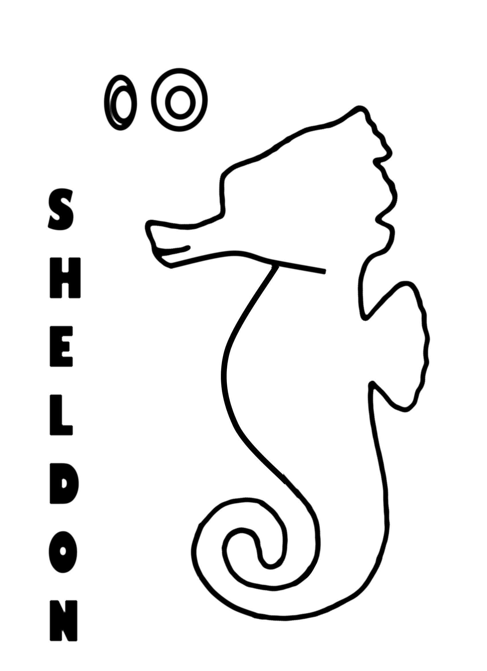 Seahorse Drawing Outline