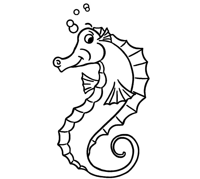650x581 Seahorse Shape Templates, Crafts Colouring Pages Free