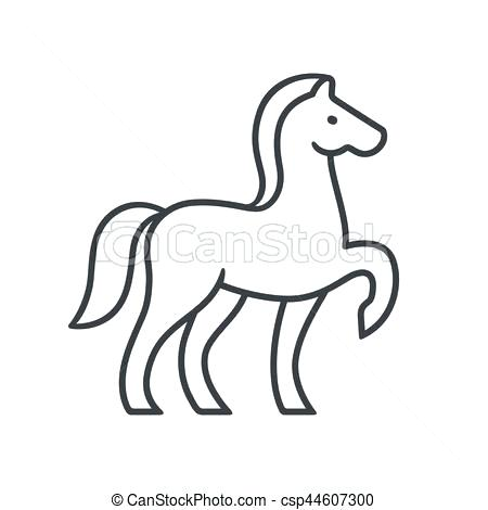 450x470 Simple Drawing Of Horse Horse Line Drawing Simple Seahorse Line